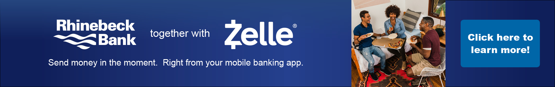 Zelle promo - homepage banner ad
