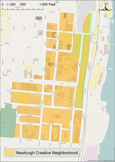 Newburgh Creative Neighborhood - map image
