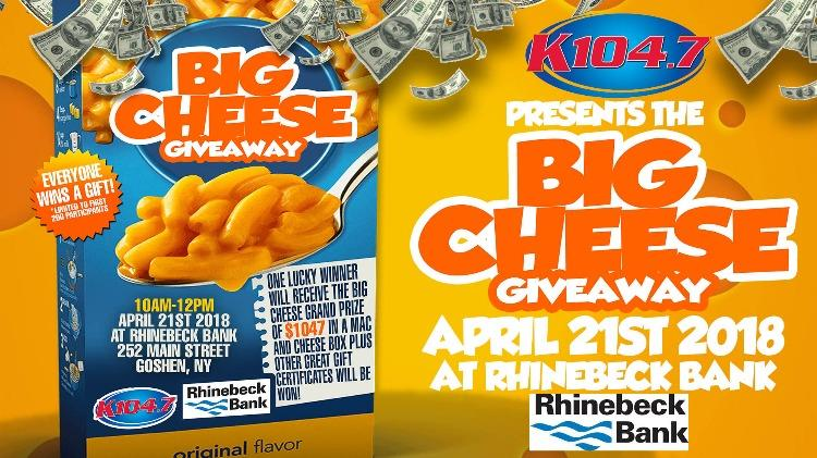 Big Cheese giveaway promo